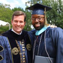 Dr. Blackburn and graduate