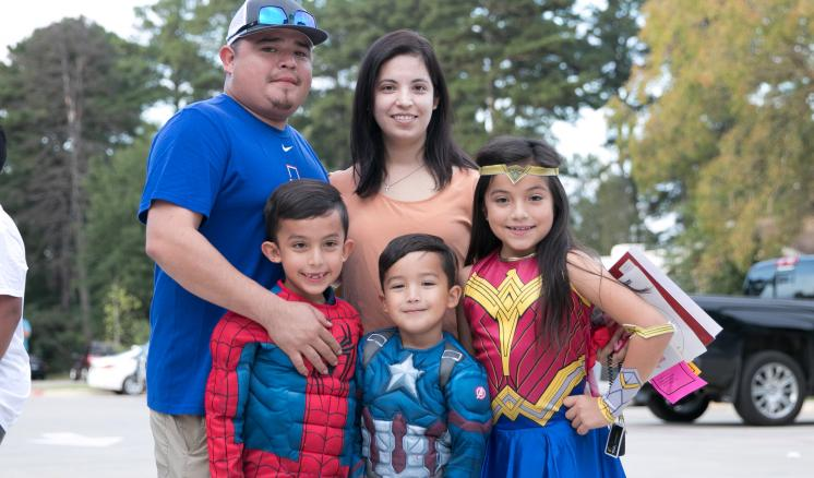 An MISD family dresses up as superheroes