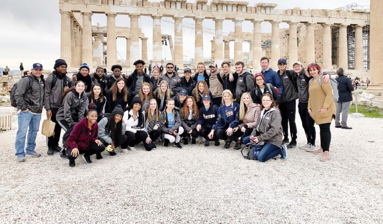 East Texas Baptist Cross Country and Track Teams serve in Greece