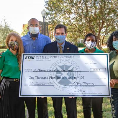 ETBU gives initial $1,500 donation to newly formed Nu-Town Revitalization Group