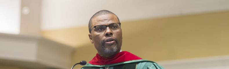 Reverend Michael A. Evans provided the keynote address at the ceremony.
