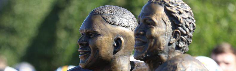 ETBU reveals statue honoring former Tiger Football players